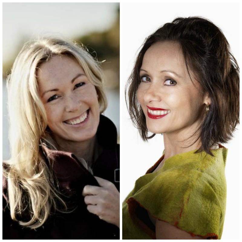 To av mine #superheltinner, Anita Krohn-Traaseth (t.v) og Veslemøy Solberg
